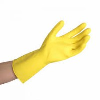 Gant de menage latex jaune