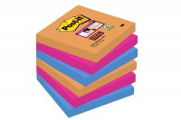 Post-it 5 blocs super sticky 75x75 assortis